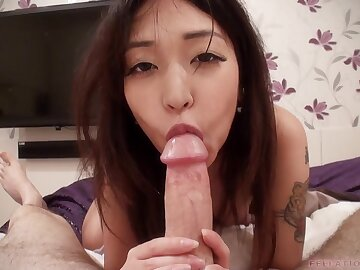 asian facial - pov blowjob